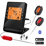 Barbecue Meat Thermometer Wireless Bluetooth Cooking Probe with 2 Probe for Indoor Outdoor Oven...