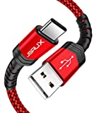 USB Type C Cable,JSAUX(2-Pack 6.6FT) USB A 2.0 to USB-C Fast Charger Nylon Braided USB C Cable...