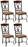 Ashley Furniture Signature Design - Glambrey Dining Room Chair Set - Scrolled Metal Accents - Set of...