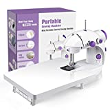 Sewing Machine, Mini Portable Double Speed Kid's Sewing Machine for Beginners with Light + Extension...