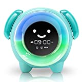 KNGUVTH Kids Alarm Clock Children Sleep Training Clock with 7 Changing Colors Teach Girls Boys Time...