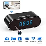 Hidden Spy Camera Clock HD 1080P IP Cameras with Night Vision/Motion Detection/Loop Recording, Nanny...