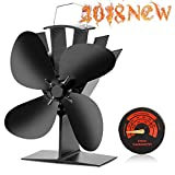 CWLAKON Heat Powered Stove Fan-2018 Upgrade Designed Silent Operation 4 Blades with Stove...