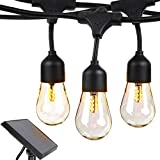 Brightech Ambience Pro -Waterproof Solar LED Outdoor String Lights - Hanging 1.5W Vintage Edison...