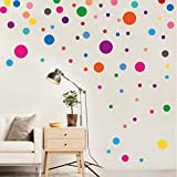 PARLAIM Wall Stickers for Bedroom Living Room, Polka Dot Wall Decals for Kids Boys and Girls...