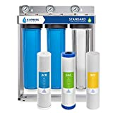 Express Water Whole House Water Filter, 3 Stage Home Water Filtration System, Sediment, Charcoal,...
