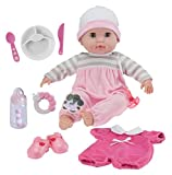 Berenguer Boutique 15' Soft Body Baby Doll - Pink 10 Piece Gift Set with Open/Close Eyes- Perfect...
