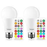 Yangcsl LED Light Bulb 75W Equivalent, RGB Color Changing Light Bulb, 6 Moods - Memory - Sync -...