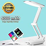led desk lamp for kids desk lamp with usb charging port reading lights for books in bed portable...
