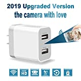 Spy Camera Wireless Hidden Charger, 2019 Upgraded Version HD 1080P Video Recorder WiFi Camera for...