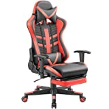 Homall Gaming Chair Ergonomic High-Back Racing Chair Pu Leather Bucket Seat,Computer Swivel Office...