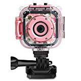 DROGRACE Children Kids Camera Waterproof Digital Video HD Action Camera 1080P Sports Camera...