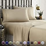 HC COLLECTION Hotel Luxury Comfort Bed Sheets Set, 1800 Series Bedding Set, Deep Pockets, Wrinkle &...