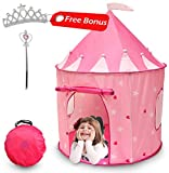 Kiddey Princess Castle Play Tent (Pink) - with Glow in The Dark Stars - Indoor/Outdoor Playhouse for...