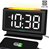 ANJANK Digital Alarm Clock for Bedrooms - Easy Night Light,Large Numbers with LED Display...