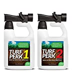 Turf Perk Microbe Mix and Azospirillum Lawn Treatment - Step 1 and Step 2 Combo Pack Lawn Solution....