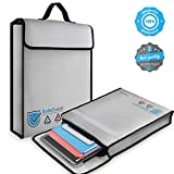 Vemingo Fireproof Bag 2000 Degree Water Resistant Document Holder 15.8 x 12.6 x 3 Inches Non-Itchy...