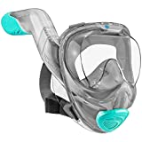 WildHorn Outfitters Seaview 180° V2 Full Face Snorkel Mask with FLOWTECH Advanced Breathing System...
