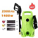 Homdox Electric Pressure Washer 2300 PSI,1400W 1.6 GPM Portable Electric Power Washer with 3...