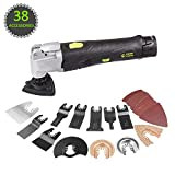 HAWKFORCE 12V MAX Cordless Multi-Purpose Oscillating Tool with 6 Variable Speeds, Quick Release...