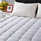 Full Cooling Mattress Pad Cover(8 to 21 Inches Deep Pocket)-Fitted Quilted Mattress Topper Down...