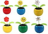 We pay your sales tax Set of 6 Dancing Flowers~ 2 Roses / 2 Smiley Sunflowers / 2 Lily in Assorted...