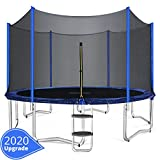 ORCC 15 14 12 10FT Kids Trampoline, TÜV Certificated Yard Trampoline with Enclosure Net Jumping Mat...