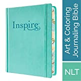 Tyndale NLT Inspire Bible (Hardcover, Aquamarine): Journaling Bible with Over 400 Illustrations to...