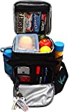 Large Insulated Lunch Bag for Men and Women with Room for More Meals and Snacks. Keeps Food Hot/Cold...