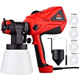 NoCry 1200ml/min Electric Paint Sprayer - 5A/600W Motor, 100 DIN/s Max Viscosity, Adjustable Air and...