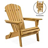 Best Choice Products Folding Wood Adirondack Lounger Chair Accent Furniture for Yard, Patio, Garden...