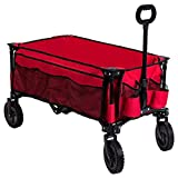 Timber Ridge Camping Wagon Folding Garden Cart Collapsible Heavy Duty Utility Grocery Trolley,...