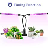 Grow Light, Ankace Upgraded Version 40W Dual Head Timing 36 LED 5 Dimmable Levels Plant Grow Lights...