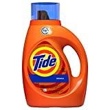 Tide Original Scent HE Turbo Clean Liquid Laundry Detergent, 50 oz, 32 loads (Packaging May Vary)