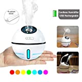 Cordless Rechargeable Cool Mist Humidifier Travel Air Humidifier USB Portable Mini Humidifiers Auto...
