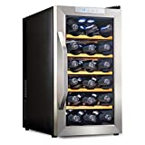 Ivation 18 Bottle Thermoelectric Red And White Wine Cooler/Chiller Counter Top Wine Cellar with...
