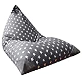 Stuffed Animal Storage Bean Bag Chair for Kids and Adults. Premium Canvas Stuffie Seat - Cover ONLY...