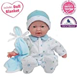 JC Toys, La Baby 11-inch Washable Soft Body Boy Play Doll for Children 12 Months and Older, Designed...