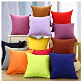 Coliang 2019 Candy Solid Color Throw Pillow Case Fashion Cushion Sofa Bed Office Spandex Supersoft...
