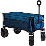 Timber Ridge Folding Camping Wagon/Cart - Collapsible Sturdy Steel Frame Garden/Beach Wagon/Cart...