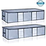 Underbed Storage Bags Organizer Container[2Pack] with Strengthened Handles and Enhanced Zipper,...