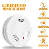 Combination Photoelectric Smoke and Carbon Monoxide Detector Alarm, Protect Your Home from Fire and...