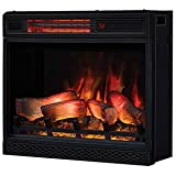 Classic Flame 23II042FGL 23' 3D Infrared Quartz Electric Fireplace Insert with Safer Plug and...