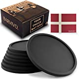 Barvivo Drink Coasters Set of 8 - Tabletop Protection for Any Table Type, Wood, Granite, Glass,...