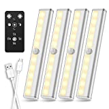 Under Cabinet Lighting Remote Control, SZOKLED Rechargeable LED Closet Light, Wireless Under Counter...