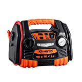 Kinverch Portable Car Jump Starter 900 Peak Amp 12 Volt with 1-USB 1-12V Power Ports & 150 PSI Air...