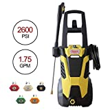 Realm BY02-BIMK 2600PSI 1.75GMP 14.5AMP Electric Pressure Washer with Brushless Induction...