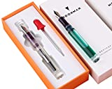NEW Moonman C1 Eye Dropper Filling Fountain Pen Fully Transparent Large-Capacity Ink Storing with...