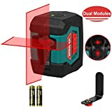 Laser Level, HYCHIKA 50 Feet Line Laser with Dual Modules, Switchable Self-Leveling Vertical and...