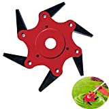 Trimmer Grass Head Cutter 6 Steel Blades Razors Tooth 65Mn Lawn Mower Lawn Mower Grass Weed Eater...